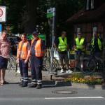 Sicherungsposten an eine Kreuzung in Winsen an der Aller.