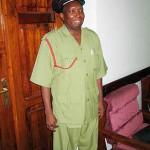 Superintendend Fikiri S. Salla, Leiter der Feuerwehr in Dar es Salaam
