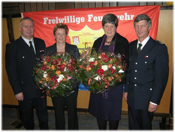 Hermann Jonas und Günther Matthees mit ihren Frauen (©D.Frommer)
