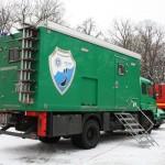 Das Fahrzeug der Tauchergruppe der Polizei. © Zeyn, FF Bille