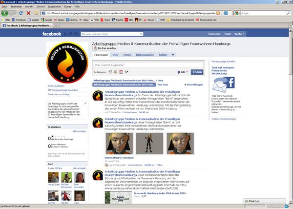Die Facebook-Seite der AG MuK