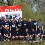 Die 18 siegreichen Läufer der FF Osdorf