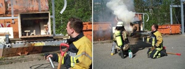 Brandverlauf in geschlossenen Räumen anhand eines Modells  Quelle und Copyright: Markus Weber, FF Schwäbisch-Gmünd