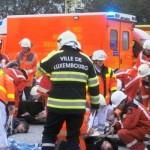 Bei allen 5 Übungen mußte eine Vielzahl an Verletzten betreut und versorgt werden