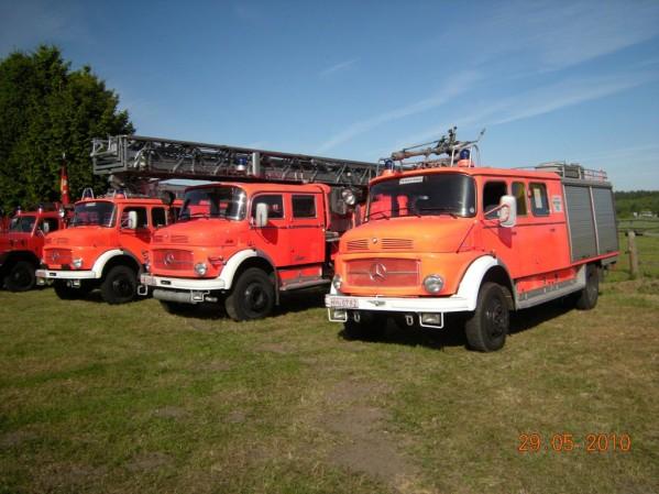 Der Löschzug der Hamburger Feuerwehr-Historiker (©D.Frommer)