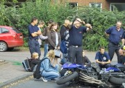 Dreharbeiten zum Thema Verkehrsunfall (C) Jörg Plagens