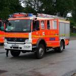 HLF 1 der Feuer- und Rettungswache 11 Innenstadt zur Sicherung der Feuerwehrzelte  Copyright: www.feuerwehr-hamburg.de