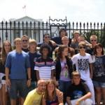 Gruppenfoto vorm Weißen Haus <br>© FF Stellingen<br