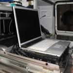 Laptop zur digitalen Einsatzunterstützung  Quelle und Copyright: Nico Oestreich, FF Hamburg-Finkenweder