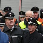 v.l.n.r.: Vertreter des BBK und OBD Klaus Maurer (beide halb verdeckt), LBF Andre Wronski, Alt-LBF Hermann Jonas, im Hintergrund LtdBD Thon (c) MT