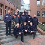 Alle Lehrgangsteilnehmer mit Ausbilder Thorsten Feldmann zum Ende des Lehrganges