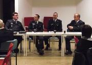 Die Kandidaten Andreas Dubbe, Peter Kleffmann, André Jähnicke und Dirk Lübkemann v.l.n.r.