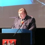 LBF Andre Wronski bei seiner Rede (c) AG MuK FF HH