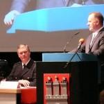 Grußworte des neuen Innensenators Michael Neumann, v.l. LJFW Uwe v. Appen, LBF/V-S Werner Burmester (c) AG MuK FF HH
