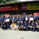 Die Sieger und die Zweitplazierten aus Oldenfelde nach der Siegerehrung (c) AG MuK