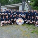 Die Mannschaft der FF Osdorf - Sieger 2011 des Fit-for-fire-Laufs der Hamburger Freiwilligen Feuerwehren (c) AG MuK