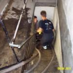 Fahrstuhlschachtzugang einer Behörde in der Innenstadt (c) FF Osdorf