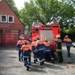 Übung am Feuerwehrhaus der FF Schnelsen (© D.Frommer)