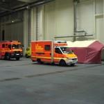 Aufgebaute Sichtungsstelle auf dem Messegelände  - Quelle und Copyright: AG MuK