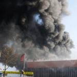 Über Rundfunk wurden die Anwohner vor dem Brandrauch gewarnt (c) H. Lahmann