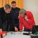 Aus dem Keller des Rathauses Bergedorf koordinieren die Katastrophenschutz-Experten die Hilfe im Landgebiet.
