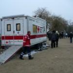 Unfallhilfs- und Meldestelle des DRK.  Quelle und Copyright: AG MuK