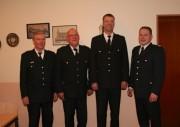 von Links: LBF/V Süd Werner Burmester; Dieter Deißelberg; Martin Meyer ; BERF Marschlande Sebastian Struss
