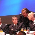 v.l.: LBF/V-Süd Werner Burmester, LBF/G Andreas Neven, LBF Andre Wronski und BerF/V Peter Wegemer, der den Abend moderierte (c) MT - AG MuK
