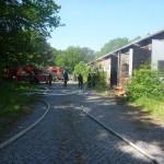 Brandobjekt Halle, früher waren weiter hinten die FFen Mitte, Altona und Berliner Tor untergebracht (c) T. Wrage, FF RISS