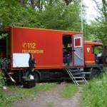 Gerätewagen Fernmeldetechnik der FF Altona als Gegensprechstelle