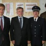 Von links:  Nikolaus Reus, Staatsrat Volker Schiek, Ltd. OBD Dipl.-Ing. Klaus Maurer und Clemens Reus  (© D.Frommer)