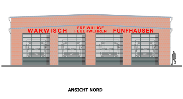 Neubau Ansicht Nord - Planung   (© G.Gretemeier)