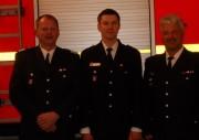 Von links nach rechts: Bereichsführer Torsten Hansche, Wehrführer-Vertreter Christian Beushausen, Wehrführer Tobias Schirk