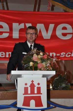 Bereichsführer Karsten Dabelstein bei der Ehrung der Jubilare
