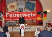 Wehrführer Heiner Meyns zur Begrüßung der Gäste