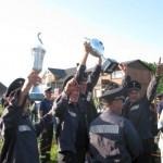 Die glücklichen Gewinner der FF Krauel nach einem spannenden Wettkampf