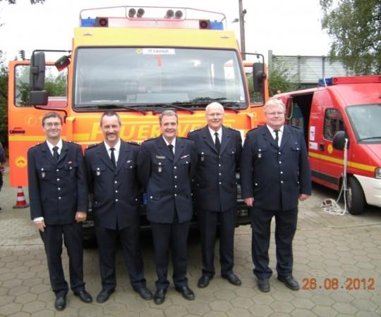 Von links: J.Schultze-Scheer, S.Schrage, F.K.Bahlo, W.Thon und T.Niedermann (© D.Frommer)