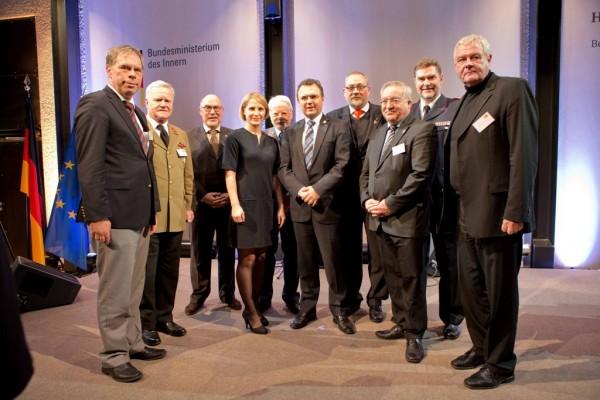Jury mit BM H.-P. Friedrich und ARD-Moderatorin Susan Link