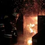 Brand eines Papiercontainers in Lokstedt