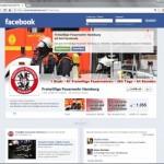 Screenshot der Freiwillige Feuerwehr Hamburg facebook-Präsenz
