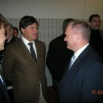 Innensenator Michael Neumann, Clemens Reus und Nikolaus Reus (von rechts)(© DF)
