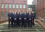 Gruppenfoto an der Feuerwehr Akademie