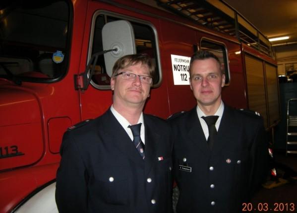 JFW Maik Jensen (links) mit WF Oliver Knabjohann (© D.Frommer)