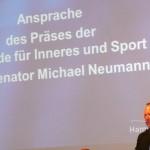 Der Senator für Inneres und Sport der Freien und Hansestadt Hamburg, Michael Neumann. (c) AG MuK FF Hamburg