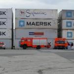 Versorgungspunkt, der Hafenbetrieb mit Container-Lösch- und Ladetätigkeit lief weiter (c) MT AG MuK
