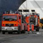 Erneut wird eine Schlauchleitung von den Kräften der FuRW 34 (Wilhelmsburg) vorbereitet. (c) MT AG MuK