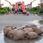 Am alten Elbarm setzte steigendes Grundwasser viele Gebiete unter Wasser, nach über 19 Stunden Pumpen war die Einsatzstelle erfolgreich abgearbeitet. (C) Bereichswebmaster Bergedorf