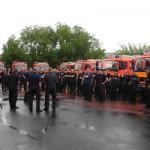 Erste Kräfteausdünnung am Samstag, 8 Löschfahrzeuge fuhren zurück nach Hamburg. (c) Bereichswebmaster Bergedorf