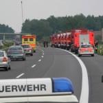 Feldküche erleidet Reifenschaden beim Rückweg, unplanmäßiger Halt für die erste Gruppe. (c) Bereichswebmaster Bergedorf