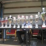 Die begehrten Pokale in voller Pracht
